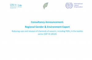 Consultancy Announcement: Regional Gender & Environment Expert